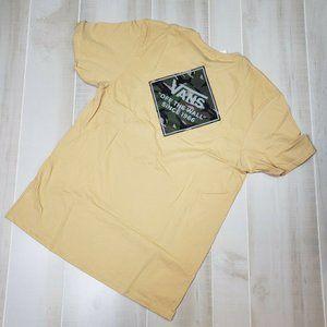 Vans Men's XL Shirt NWT Yellow Camo Logo NEW